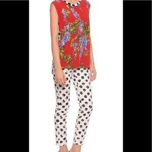 NWOT Dolce and Gabbana Painted Dot Skinny Jeans